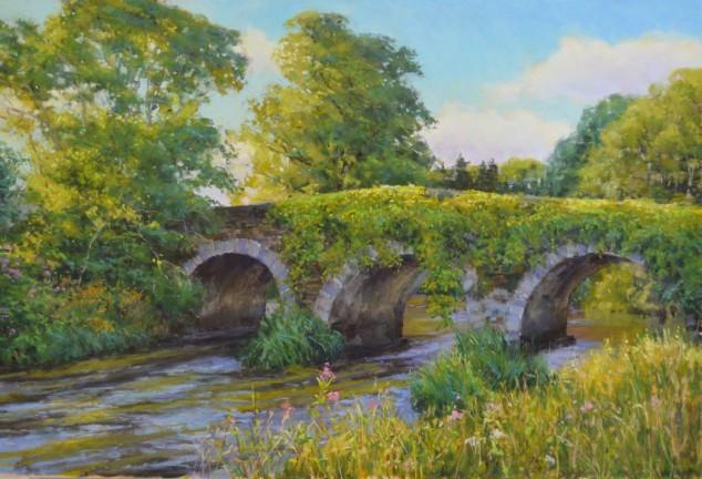 """The Bridge to Clonegal"" 19x28, Pastel"