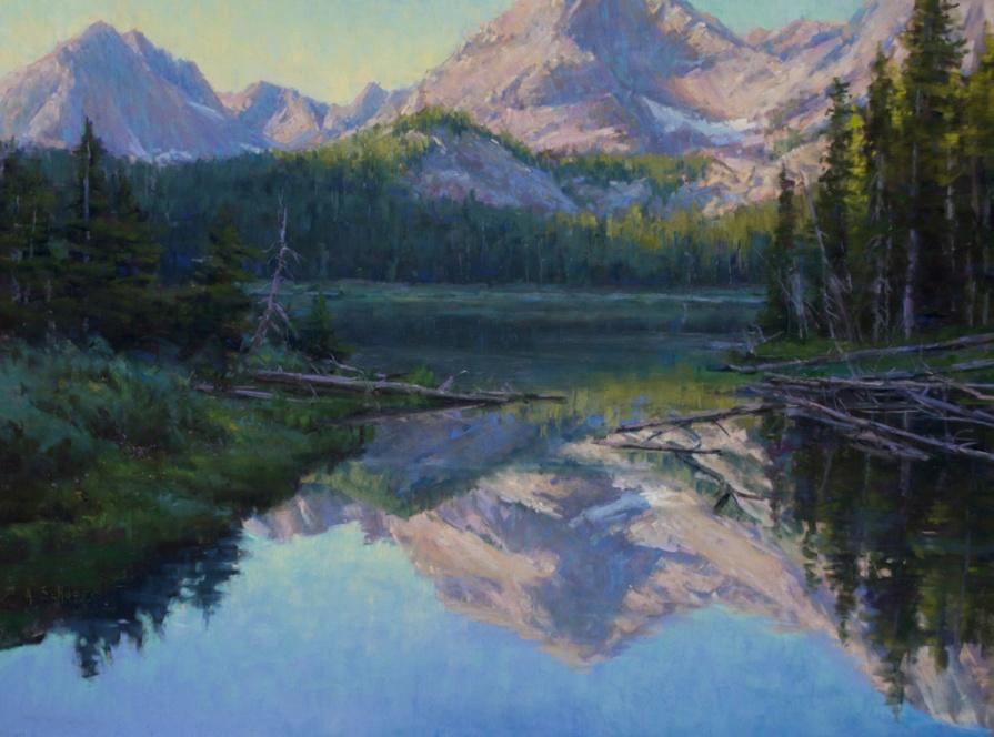 """""""Mirror Lake Reflected"""" 18x24, pastel"""