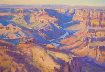 """""""Navajo Point Color"""" 11x14, pastel."""
