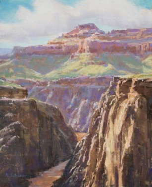 """""""Afternoon at Plateau Point"""" 14x9, pastel"""