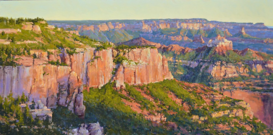 """Vista Encantada Morning"" 18x36. Pastel."