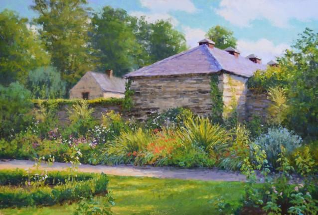 """""""Irish Gardens"""" 19x28, Pastel."""