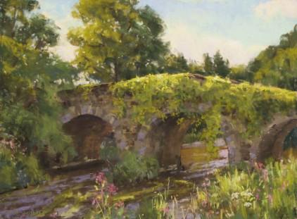 """""""Clonegal Bridge"""" 12x16, pastel."""