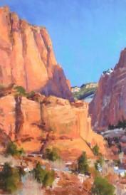 """""""Guardians of Kolab Canyon"""" 15x9, Pastel"""