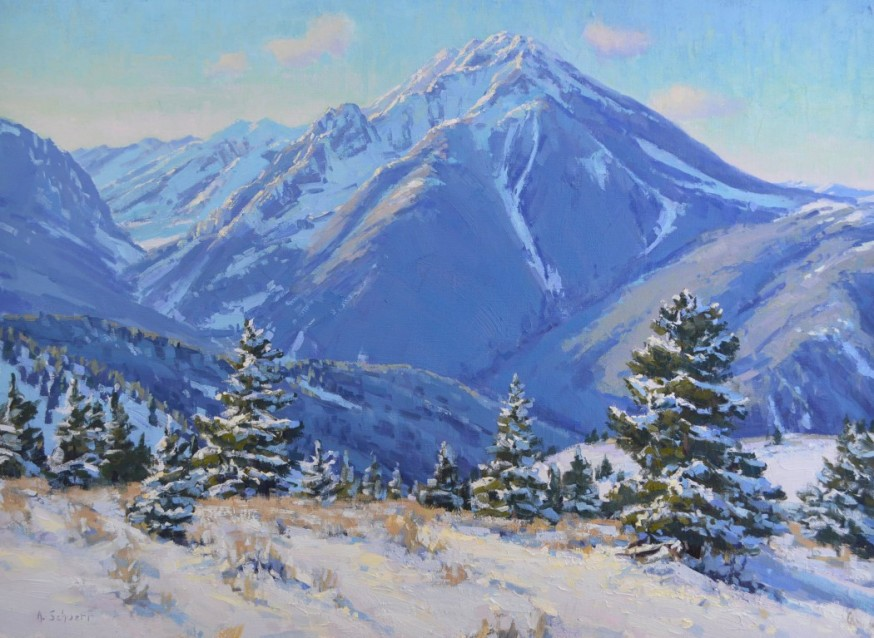 """""""The North Face of Emigrant Peak"""" 20x27, oil. Available at Legacy Gallery, Bozeman."""