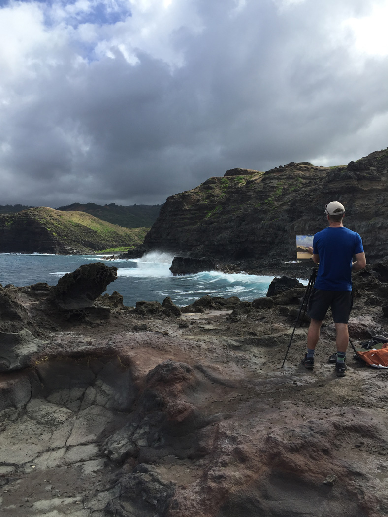 Painting in Maui